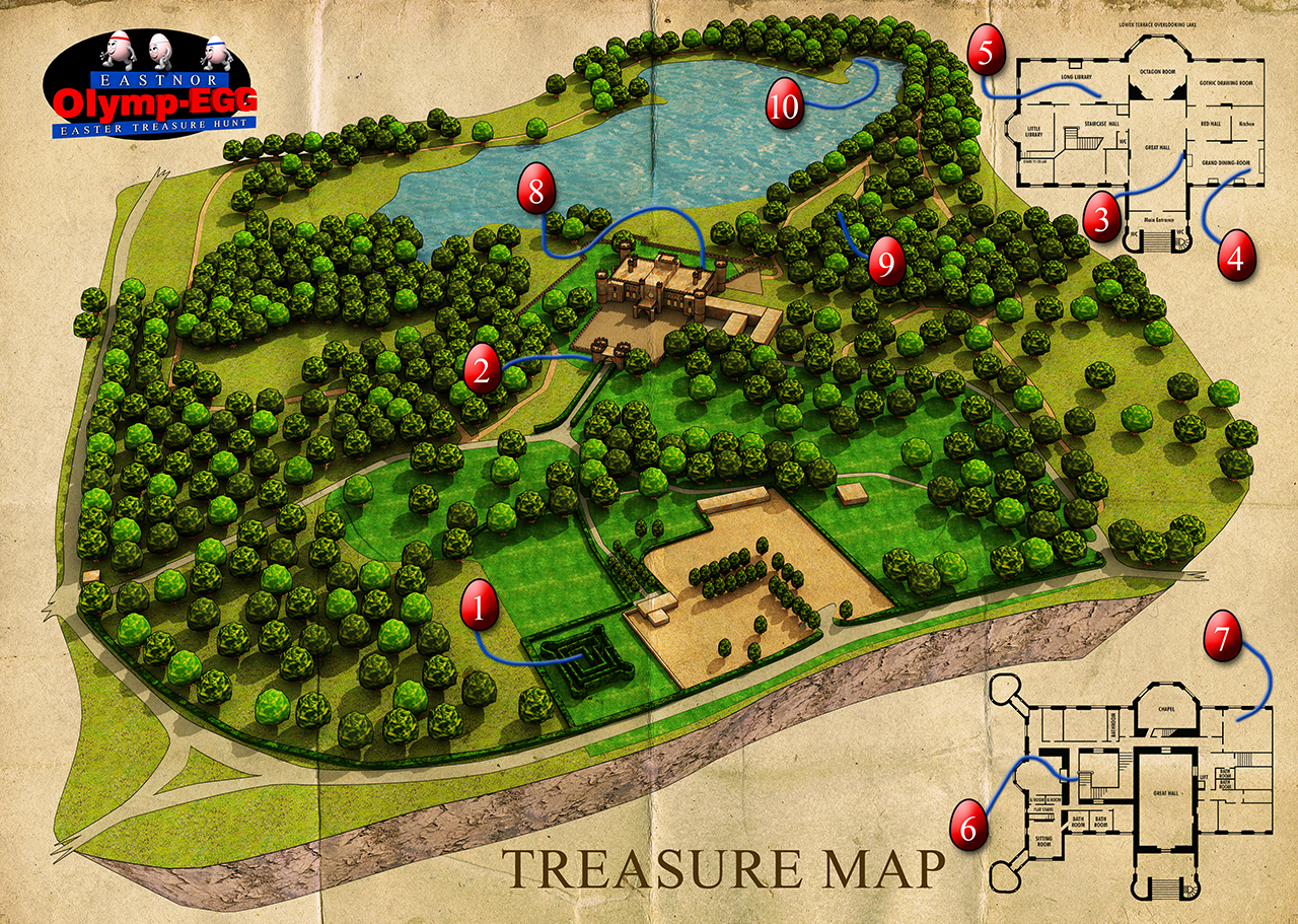 3D Castle Map Visual Graphic Design