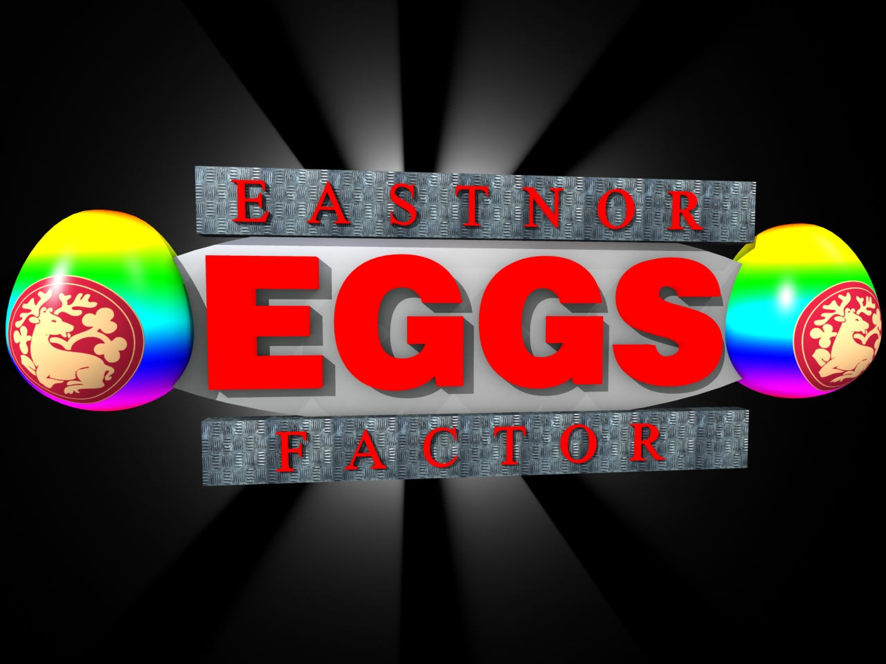 3D Easter Event Logos