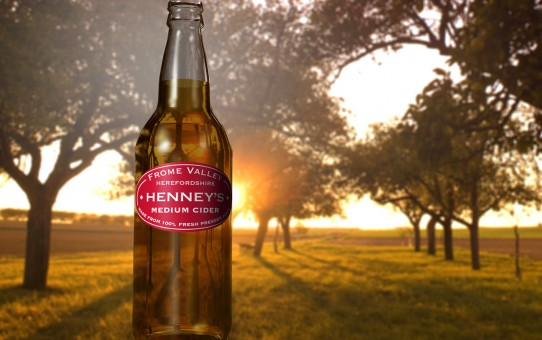 Cider glass bottle visuals