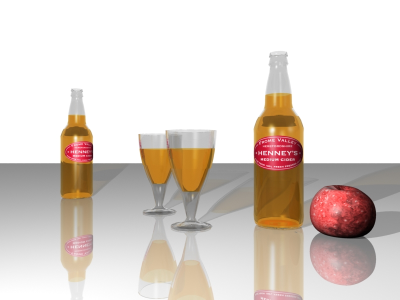 Cider glass bottle visual