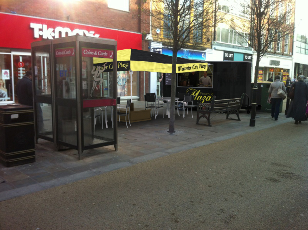 City Centre Cafe proposal for Planning Permission