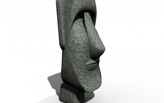 Easter Island Stone Man Logo