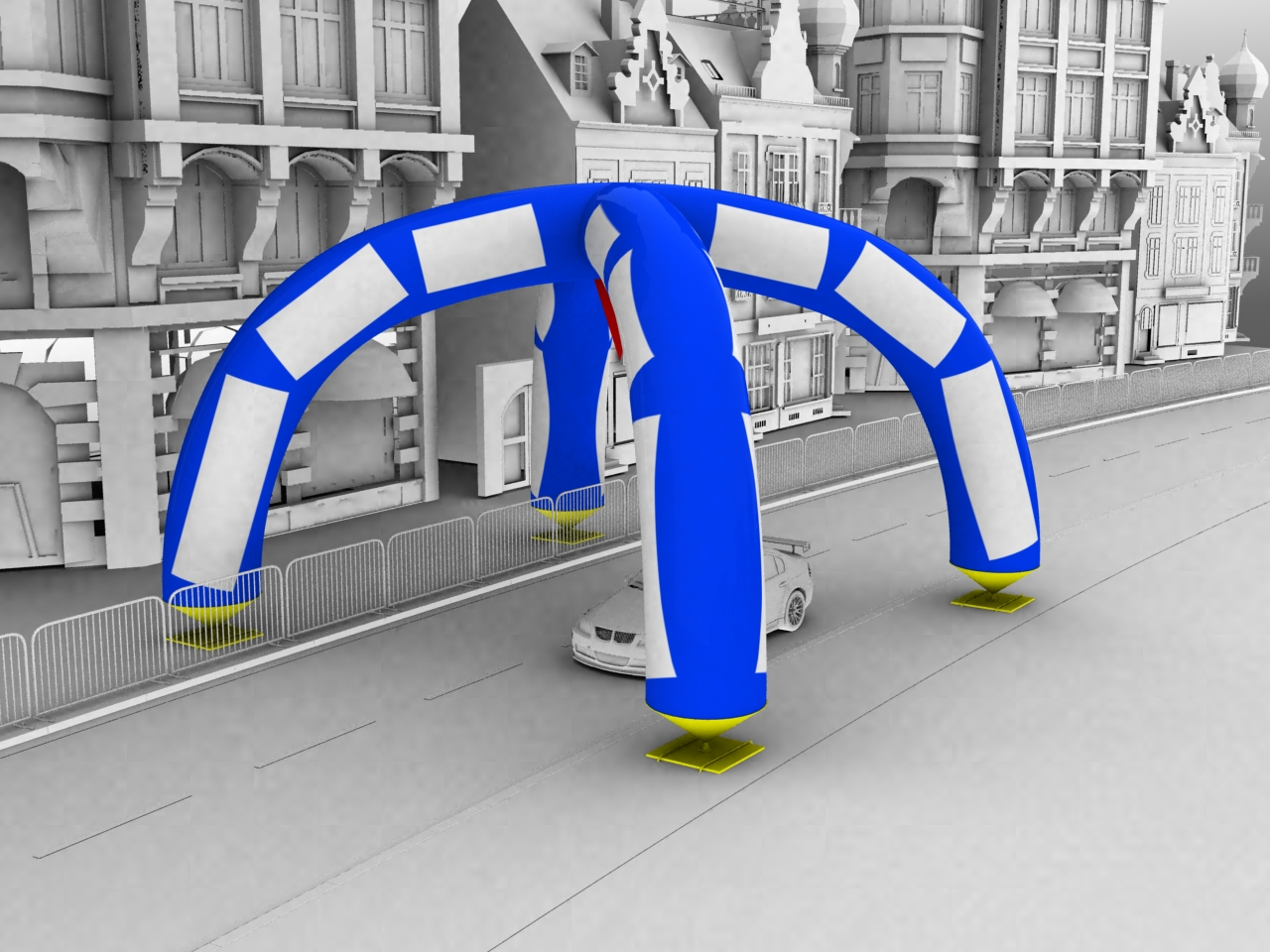 Inflatable 3D Designed Road Arch